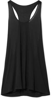 Kiki de Montparnasse Intime Modal-blend Jersey Chemise - Black