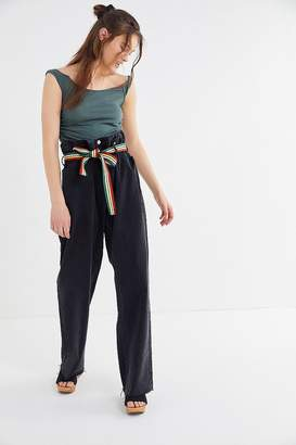 BDG Myra Oversized Belted Paperbag Jean