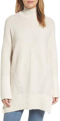 Caslon Ribbed Turtleneck Tunic Sweater