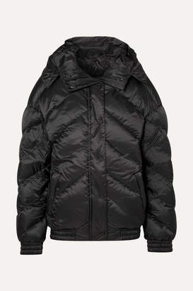 Perfect Moment - Oversized Hooded Quilted Shell Down Jacket - Black