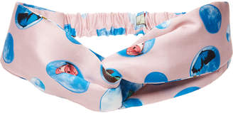 Colette Malouf Pink Multi Sky Silk Headwrap