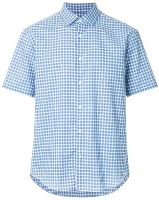Cerruti short sleeve checked shirt