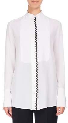 Victoria Beckham Victoria Rickrack-Trim Tuxedo Shirt