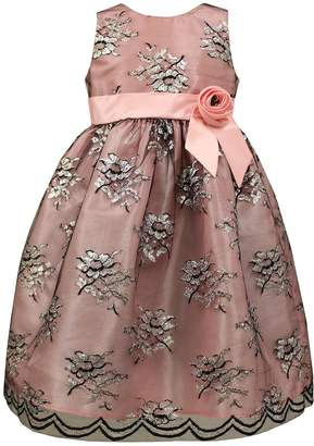 Sorbet Sparkly Sleeveless A-Line Dress, Pink/Black, 7-14