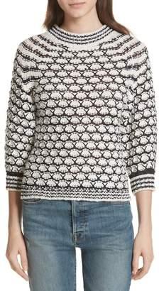Rebecca Taylor Lace Stitch Sweater