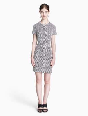Calvin Klein ponte knit short sleeve sheath dress