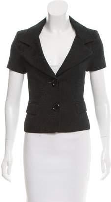 Michael Kors Jacquard Cropped Jacket