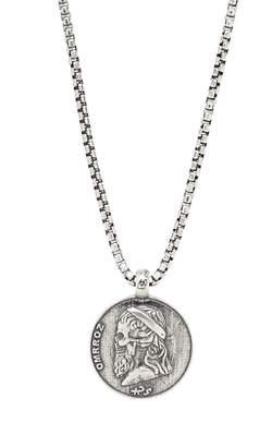 Degs & Sal Greek Skull Pendant Necklace