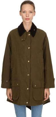 Philosophy di Lorenzo Serafini Oversized Waxed Cotton Blend Jacket