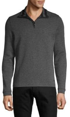 HUGO BOSS Long-Sleeve Mockneck Pullover