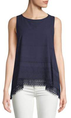 Max Studio Crochet Lace Tank Top
