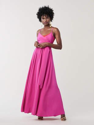 Diane von Furstenberg Azalea Silk Maxi Dress