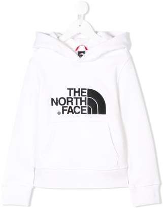 The North Face Kids logo embroidered hoodie