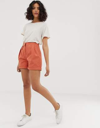 NATIVE YOUTH high waist relaxed shorts
