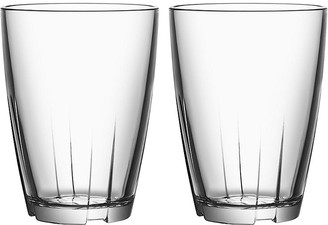 Kosta Boda Set of 2 Bruk Tall Tumblers - Clear