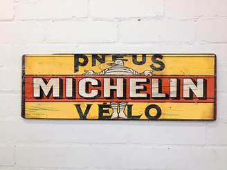Daughters Of The Revolution Retro Michelin Cycling Sign