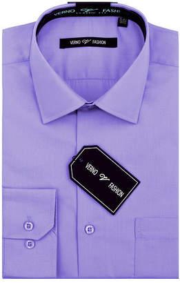 VERNO Verno Mens Slim Fit Long Sleeve Dress Shirt