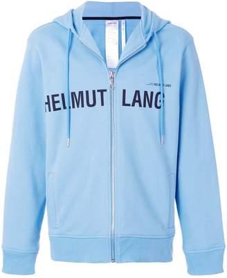 Helmut Lang zipped logo hoodie