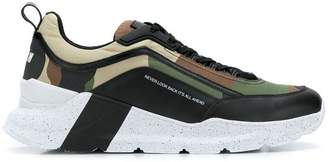 MSGM military print sneakers