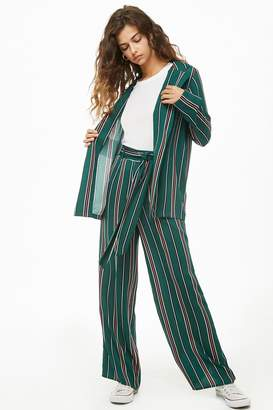 Forever 21 Striped Wide-Leg Pants
