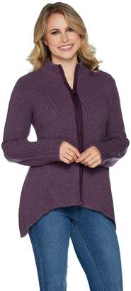 Linea By Louis Dell'olio by Louis Dell'Olio Mock Neck Swing Cardigan