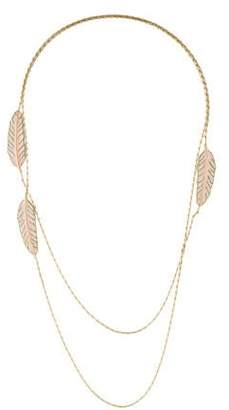 Nina Ricci Feather Station Necklace