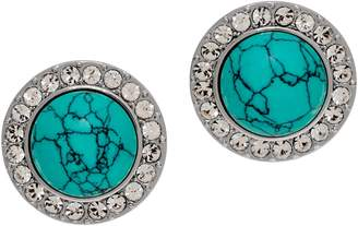 Grace Kelly Collection Simulated Turquoise Button Earrings