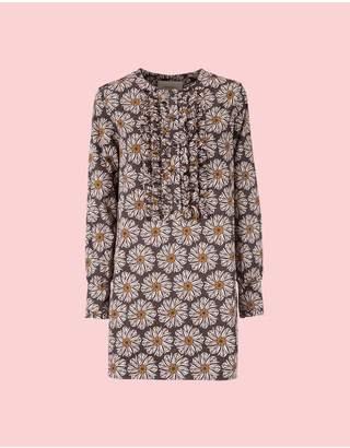 La Doublej Polinesia Cotton Tuxedo Mini Dress