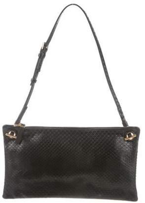 The Row Python Party Time Shoulder Bag Black Python Party Time Shoulder Bag