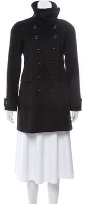 Burberry Virgin Wool Double-Breasted Peacoat Black Virgin Wool Double-Breasted Peacoat