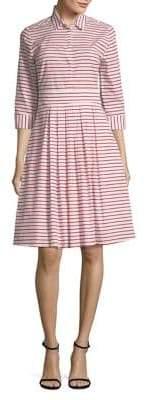 Marella Stripe Pleated Shirtdress
