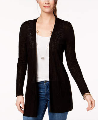 Style&Co. Style & Co Petite Cotton Pointelle-Knit Cardigan, Created for Macy's