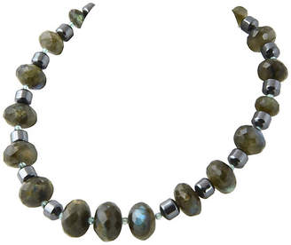 One Kings Lane Vintage Faceted Labradorite & Hematite Necklace - Owl's Roost Antiques