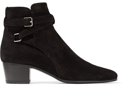 Saint Laurent - Blake Suede Ankle Boots - Black