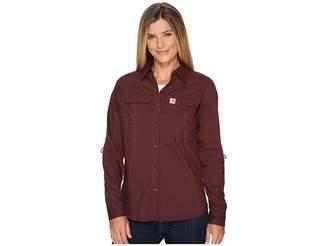 Carhartt Force Ridgefield Shirt Women's Long Sleeve Button Up