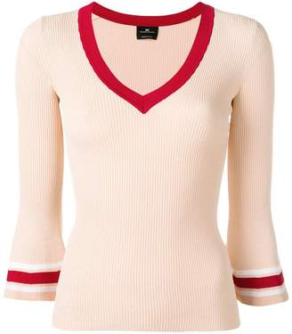 Elisabetta Franchi colour-block fitted sweater