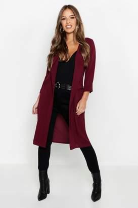 boohoo Petite Woven Duster Coat