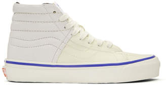 Vans White Inside Out Checkerboard OG Sk8-Hi LX Sneakers