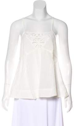 Current/Elliott Lace-Accented Sleeveless Top