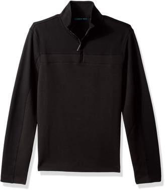 Perry Ellis Men's Long Sleeve Quarter Zip Knit