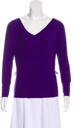 Versace Long Sleeve Knit Top