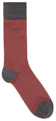 BOSS Hugo Regular-length socks in a cotton 7-13 Red