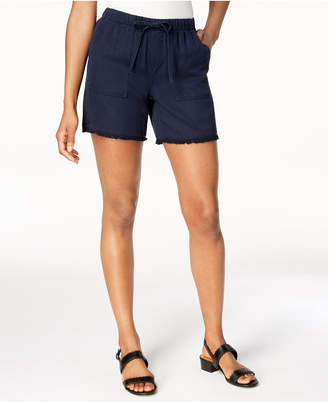 Style&Co. Style & Co Frayed-Hem Pull-On Shorts, Created for Macy's
