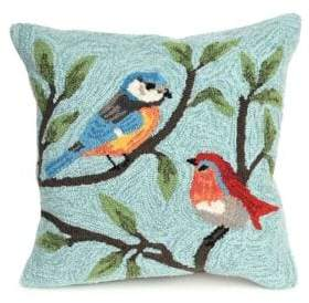 Liora Manné Frontporch Birds on Branches Indoor and Outdoor Square Pillow