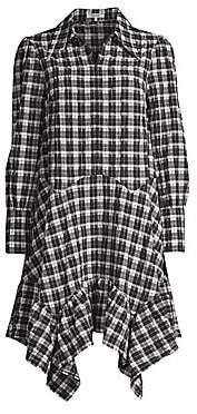 Ganni Women's Seersucker Check Dress