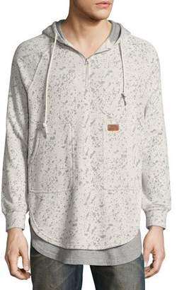 PRPS Fissure Double-Layer Burnout Hoodie, Gray