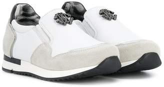 Roberto Cavalli Junior slip-on sneakers