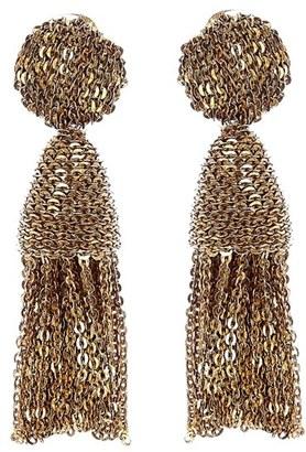 Women's Oscar De La Renta 'Classic Short' Tassel Chain Drop Earrings $375 thestylecure.com