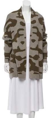 Current/Elliott Open Front Camouflage Cardigan