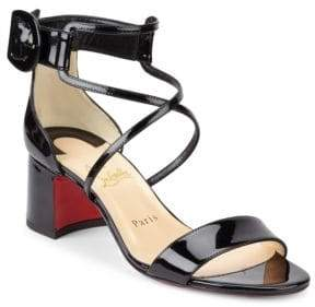Christian Louboutin Choca 55 Patent Leather Sandals
